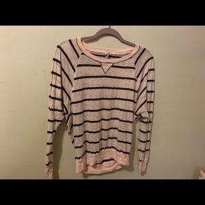 Splendid pink striped long sleeve shirt XS